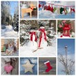 Christmas decoration in country style — Stok fotoğraf