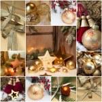 Mosaic Christmas greeting card — Stock Photo