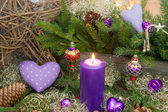 Violet or purple christmas decoration — Fotografia Stock