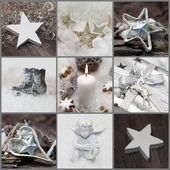 Christmas collage with decoration — Stock Photo