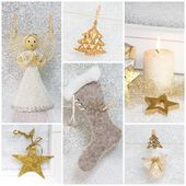 Collage of photos for christmas — Stock Photo