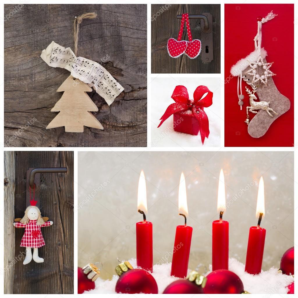 landhaus country dekoration zu weihnachten stockfoto. Black Bedroom Furniture Sets. Home Design Ideas