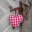 Checkered heart — Stock Photo