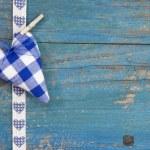 Checkered blue heart — Stock Photo