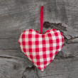 Plaid heart for lovers — Stock Photo
