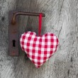 Checkered heart — Foto de Stock