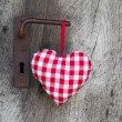 Checkered heart — Stock fotografie