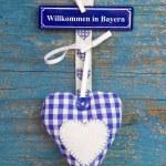 Handmade checkered heart — Stock Photo