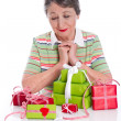 Gifts on Grandma's Birthday — Stock Photo