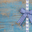 Blue ribbons with bow — Stock Photo