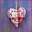 Checkered handmade heart — Stock Photo
