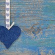 Stock Photo: Jeans heart shabby look
