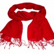 Glaring red scarf — Stock Photo