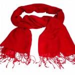 Glaring red scarf — Stok fotoğraf