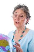 Starszy kobieta świata — Zdjęcie stockowe