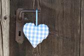 Corazón a cuadros — Foto de Stock