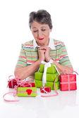 Gifts on Grandma's Birthday — Stock Photo