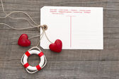 Wedding card or Valentine — Stockfoto