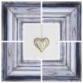 Heart in shabby frame — Stock Photo