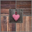 Greeting card with heart — Stockfoto