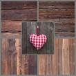 kartkę z życzeniami z serca — Zdjęcie stockowe