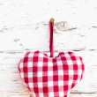 Plaid heart for lovers — Stock Photo #34180789