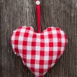 Plaid heart for lovers — Stockfoto