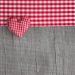 Greeting card checkered heart — Stock Photo