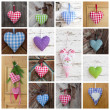 Homemade hearts collage — Stock Photo