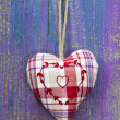 Checkered handmade heart — Stock Photo #34181247