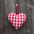 Plaid heart for lovers — 图库照片