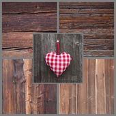 Greeting card with heart — Stock Photo