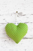Spotted heart decoration — Stock Photo