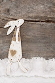 Easter bunny card — Stock Photo