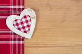 Greeting card with checkered heart — Stock Photo