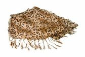 Scarf with leopard pattern — Stock Photo