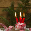 Christmas decoration with candles — Stock Photo #34437699