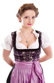 Bavarian young woman — Stock Photo