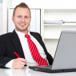 Business manager in office — Stock Photo