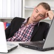 Man sleeping on workplace — Stock Photo