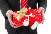 Gift box in hands — Stock Photo