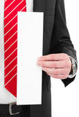 Manager with blank sign — Stock Photo