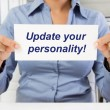 Stock Photo: Update your personality