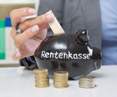 Savings for retirement — Stock Photo