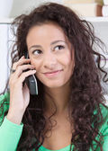 Charming woman on phone — Stock Photo