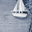 Sailing boat postcard — Stock Photo