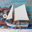 Sailboat decoration — Stock Photo