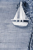Sailing boat postcard — Stok fotoğraf
