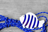 Fish maritime decoration — Stock Photo