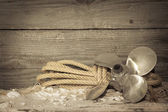 Maritime nautical screw — Stockfoto